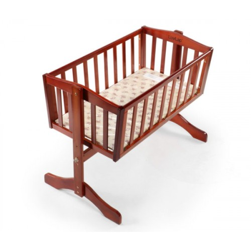 Luvlap Baby Wooden Cot C-10 – Cherry Red