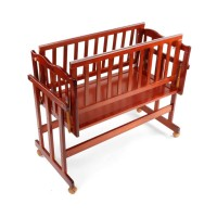 Luvlap Baby Wooden Cot C-30 – Cherry Red