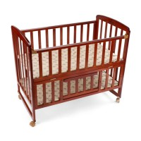 Luvlap Baby Wooden Cot C-50 – Cherry Red