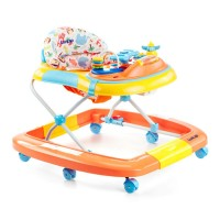Luvlap Grand Baby Walker With Rocker – Orange