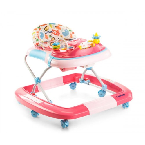 Luvlap Grand Baby Walker With Rocker – Pink