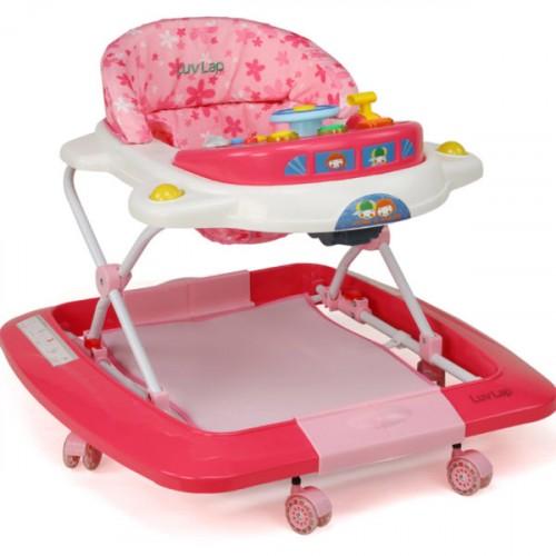 Luvlap Royale Baby Walker – Pink