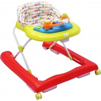 R for Rabbit Zig Zag - The Anti Fall Safe Baby Walker with Adjustable Height and Musical Toy Bar (Red Green)