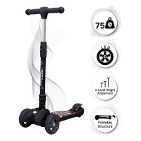 R for Rabbit Road Runner Scooter for Kids - The Smart Kick Scooter for Kids (Black)