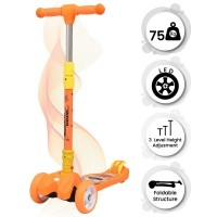 R for Rabbit Road Runner Scooter for Kids - The Smart Kick Scooter for Kids (Orange) kids toy scooter for boys  and girls scooter
