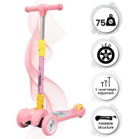 R for Rabbit Road Runner Scooter for Kids - The Smart Kick Scooter for Kids (Pink)
