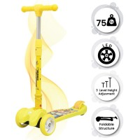 R for Rabbit Road Runner Scooter for Kids - The Smart Kick Scooter for Kids (Yellow)