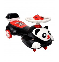 Big Panda Baby Ride-on Twist and Swing Magic Car, White Black