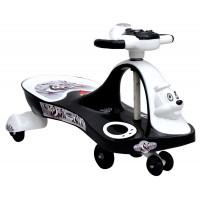 Panda Baby Ride-on Twist and Swing Magic Car, White Black
