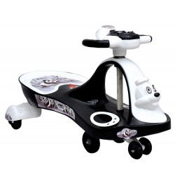 Panda Baby Ride-on Twist and Swing Magic Car, White Black