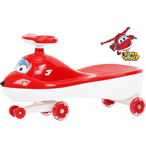 R for Rabbit Super Wings Swing Car - The Designer Magic /Twister Car for Kids / Baby (Red)