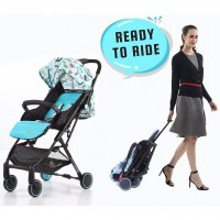 R for Rabbit Pocket Stroller Lite - The Most Portable Baby Stroller for New Born (Blue)