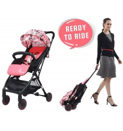 R for Rabbit Pocket Stroller Lite - The Most Portable Baby Stroller for New Born (Pink)