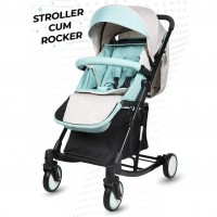 R for Rabbit Rock N Roll - The Rocking Baby Stroller and Pram for Babies (Green)