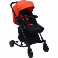 R for Rabbit Rock N Roll - The Rocking Baby Stroller and Pram for Babies (Red Black)