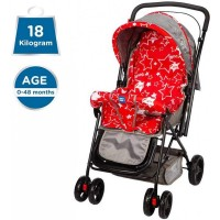Mee Mee Adjustable Seat Baby Pram with Reversible Handle (Red)