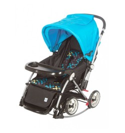 Mee Mee Premium Baby Pram with Rocker Function (Blue)