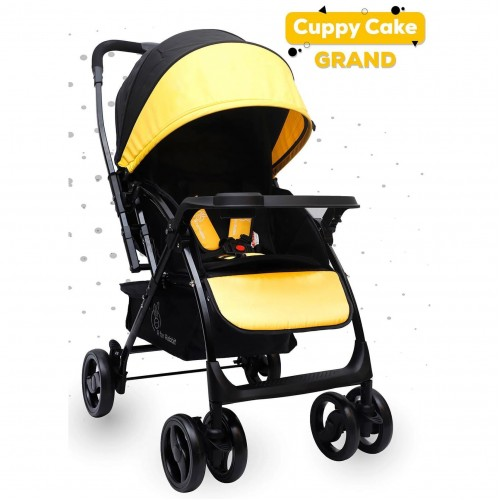 R for Rabbit Cuppy Cake Grand Baby Stroller-Smart & Elegant Stroller and Pram(Yellow)