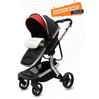 R for Rabbit Hokey Pokey Plus - The Ultimate Baby Stroller - Pram (Black)