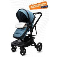 R for Rabbit Hokey Pokey Plus - The Ultimate Baby Stroller - Pram (Blue)