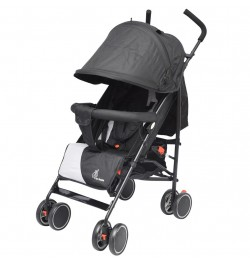 R for Rabbit Twinkle Twinkle -Compact Folding Baby Stroller (Grey Black)