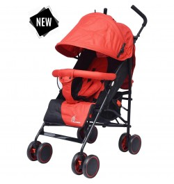 R for Rabbit Twinkle Twinkle -Compact Folding Baby Stroller (Red Black)