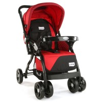 Luvlap Galaxy Stroller – Red & Black