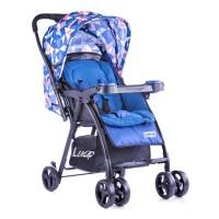 Luvlap Joy Baby Stroller – Printed Blue