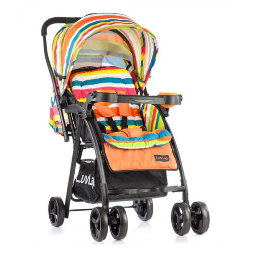 Luvlap Joy Baby Stroller – Printed Orange