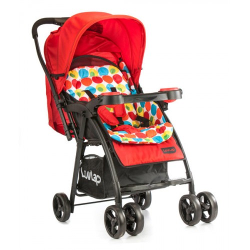 Luvlap Joy Baby Stroller – Printed Red