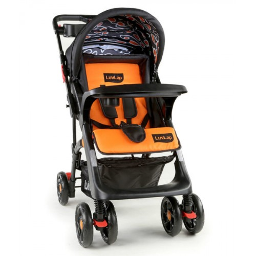 Luvlap Sports Stroller – Black+Orange