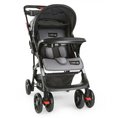 Luvlap Sports Stroller – Grey+Black