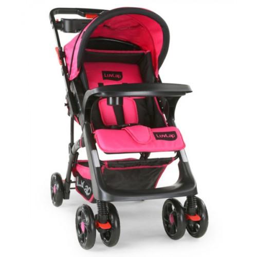 Luvlap Sports Stroller – Pink + Black