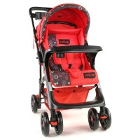 Luvlap Sports Stroller – Printed Red