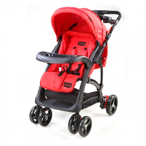 Luvlap Sports Stroller – Red/Black