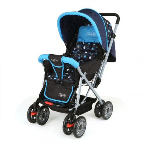Luvlap Sunshine Baby Stroller – (Blue/Black)