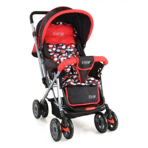 Luvlap Sunshine Baby Stroller – Red/Black