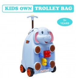 Buy R for Rabbit Orapple Kids Trolley Bags - Cute 18 inch Travel Bags for Kids with Blocks (Blue) Online in India