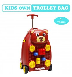 Buy R for Rabbit Orapple Kids Trolley Bags - Cute 18 inch Travel Bags for Kids with Blocks Maroon)) Online in India