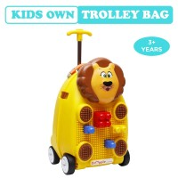 R for Rabbit Orapple Kids Trolley Bags - Cute 18 inch Travel Bags for Kids with Blocks(Yellow)