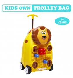 Buy R for Rabbit Orapple Kids Trolley Bags - Cute 18 inch Travel Bags for Kids with Blocks(Yellow) Online in India