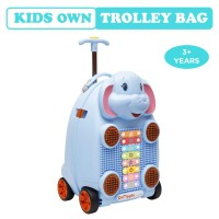 R for Rabbit Orapple Kids Trolley Bags - Cute 18 inch Travel Bags for Kids with Xylophone (Blue)