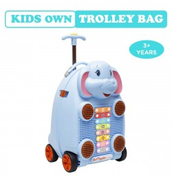 Buy R for Rabbit Orapple Kids Trolley Bags - Cute 18 inch Travel Bags for Kids with Xylophone (Blue) Online in India