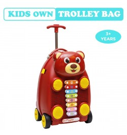 Buy R for Rabbit Orapple Kids Trolley Bags - Cute 18 inch Travel Bags for Kids with Xylophone (Maroon) Online in India