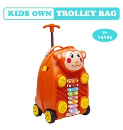 Buy R for Rabbit Orapple Kids Trolley Bags - Cute 18 inch Travel Bags for Kids with Xylophone (Orange) Online in India