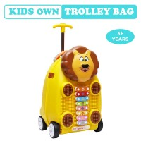 R for Rabbit Orapple Kids Trolley Bags - Cute 18 inch Travel Bags for Kids with Xylophone (Yellow)