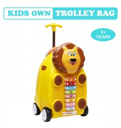 Buy R for Rabbit Orapple Kids Trolley Bags - Cute 18 inch Travel Bags for Kids with Xylophone (Yellow) Online in India