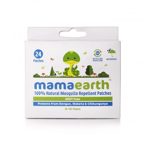 Mamaearth Natural Repellent Mosquito Patches for Babies, 24 pcs (Pack of 2)