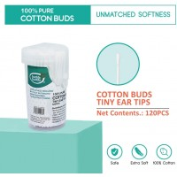 Buddsbuddy 100% Pure Cotton Buds Regular Ear Tips 120Pcs