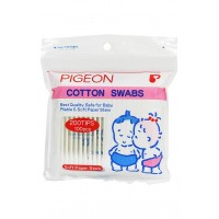 Pigeon Cotton Swabs 100Pcs/Plastic Pack